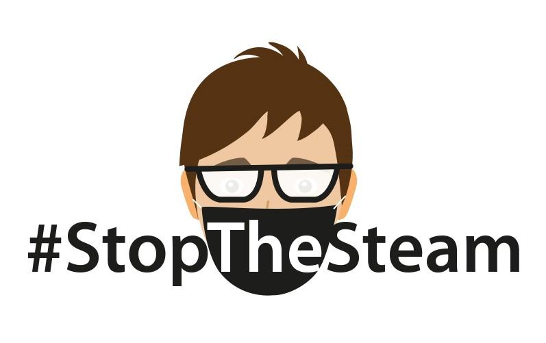 Stop the steam infographic Ausschnitt