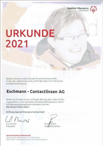 Urkunde 2021